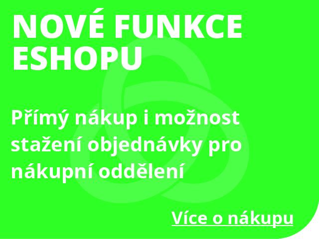 Nové funkce e-shopu